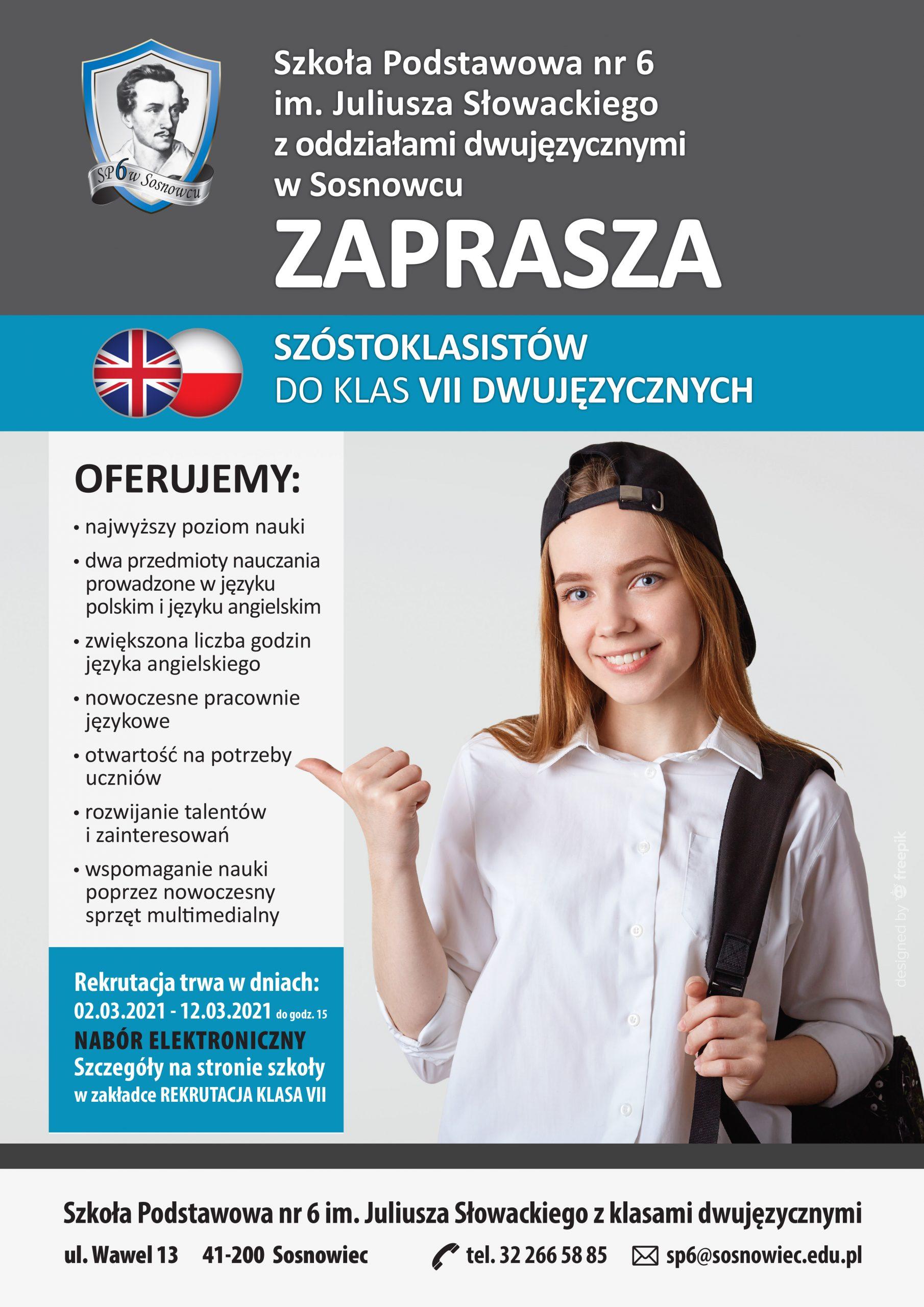 Rekrutacja do klasy 7 dwujęzycznej